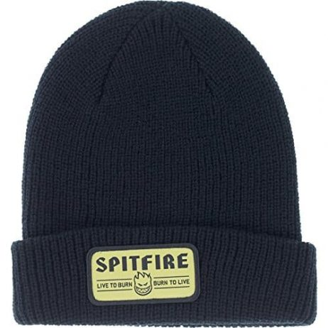 Spitfire Hombre Patch Cuff Black / Yellow Beanie