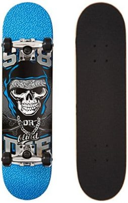 Blind 10511269Y Sk8 or Die Complete Skateboards, MIN7.0, Blue