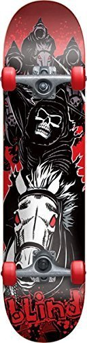 Blind Four Horseman Mid Complete Skateboard - 7.4 Black/Red