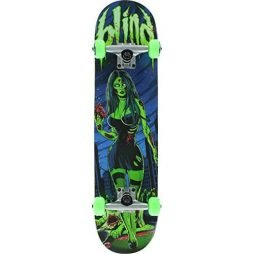 "Blind Maneater Green / Blue Complete Skateboard - 7.6"" x 31.1"""