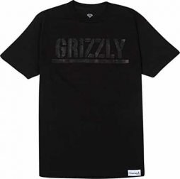 Grizzly Tonal Stamp Short Sleeve T-Shirt, Black