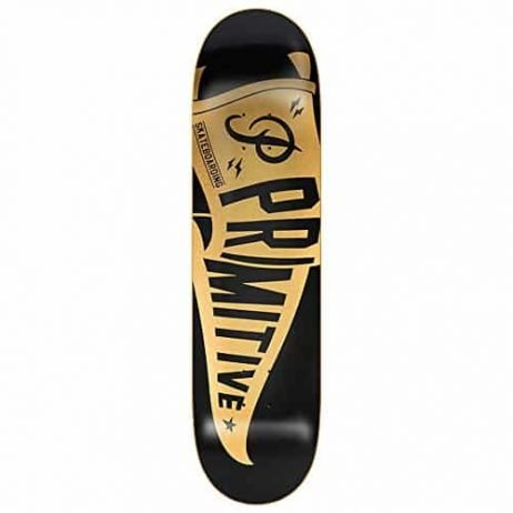 "Primitive Pennant Black Gold 8.25"" x 31.5"" Skateboard Deck"