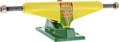 Venture LO 5.25 OG Awake Yellow/Green Skateboard Trucks (Set of 2)