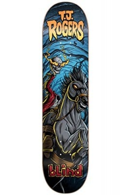 "Blind TJ Rogers Resin 7 Fairy Tale Headless Horseman Skateboard Deck - 8"" x 32.1"""