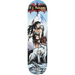 "Blind TJ Rogers Resin 7 White Wolf Skateboard Deck - 8"" x 31.6"""