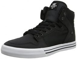 Supra Mens Vaider Black 8.5 High-Top Sneakers S28254