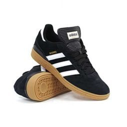 adidas Men's BUSENITZ Shoe, core black, ftwr white, gold met., 9.5 M US