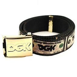 DGK Men's Cream Scout Belt White