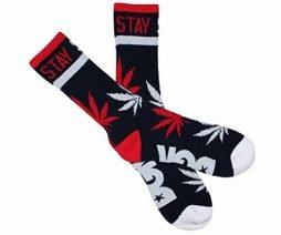 DGK STAY SMOKIN Crew Socks - OSFA - (Various Colors) (Blue/Red/White)