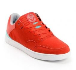 Diamond Supply Co Men's Capital Suede Skate Shoes-Red/Mint-6.5