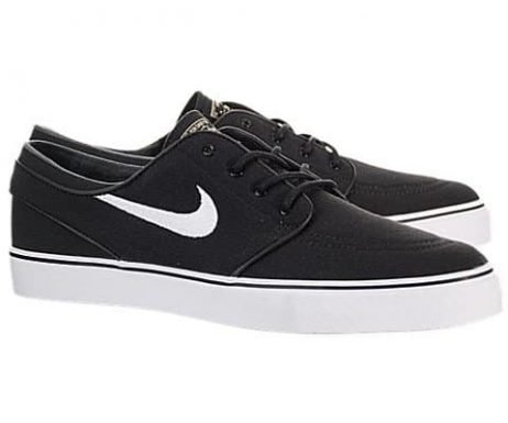 Nike Men's Zoom Stefan Janoski CNVS Blk/White/Gm Lght Skate Shoe 9.5 Men US