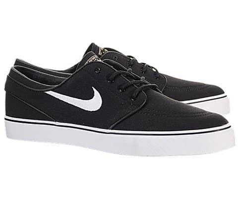 new product 8e3f6 80bc2 Nike Zoom Stefan Janoski Canvas Skate Shoe - Men s Black White Gum Light  Brown