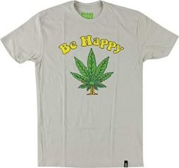Shake Junt Be Happy T-Shirt – Size: LARGE Sand Off White