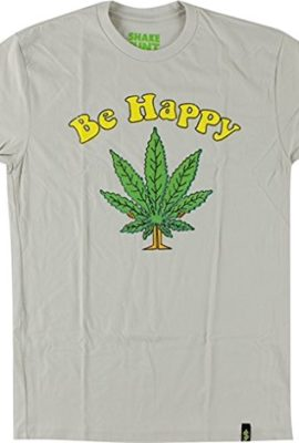 Shake-Junt-Be-Happy-T-Shirt-Size-LARGE-Sand-Off-White-0