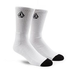 Volcom Big Boys' Full Stone Sock, White, One Size