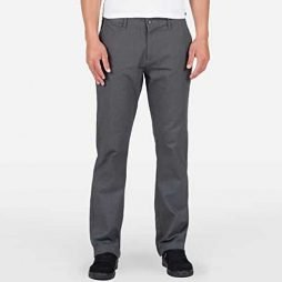 Volcom Men's Frickin Modern Fit Stretch Chino Pant, Charcoal Heather 2015, 30