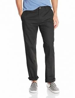 Volcom Men's Frickin Modern Fit Stretch Chino Pant, Black 2016, 31
