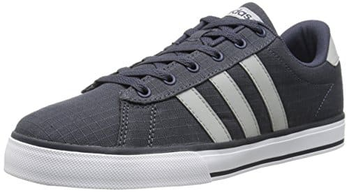 adidas NEO Men's SE Daily Vulc Lifestyle Skateboarding Shoe,Navy/Clear Onix  Grey/