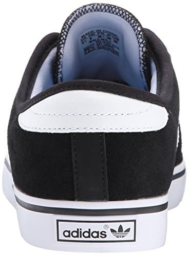 adidas Originals Men's Seeley Lace Up Shoe, Black/Running White/Black, 10.5 M US
