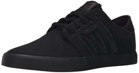 Adidas Men's Seeley Skate Shoe,Black/Black/Black,9 M US