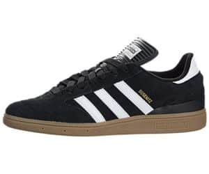 adidas Men's BUSENITZ Shoe, core black, ftwr white, gold met., 10.5 M US