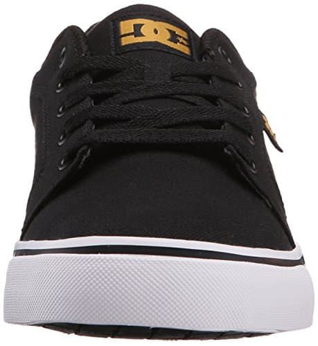 DC Men's Anvil TX Skate Shoe, Black/Camel, 10 M US