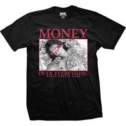 DGK Men's Money Over Everything T Shirt Black