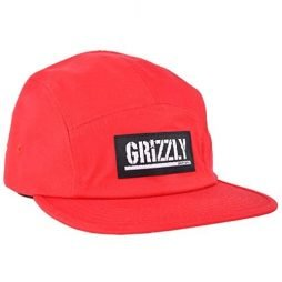 Grizzly Griptape 5 Panel Buckle Red Hat