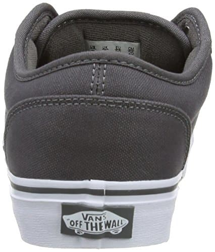Vans VTUY4WVP Men's Atwood Canvas Skate Shoes, Pewter/White, 10 D(M) US