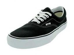 Vans Unisex's VANS ERA SKATE SHOES 11 (BLACK)