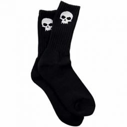 Zero Mens Skull Crew Socks, Black, One Size