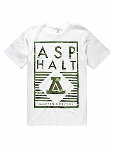 ASPHALT YACHT CLUB Delta Lockup T-Shirt, White, Small