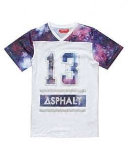 AYC Mesh Galaxy Boys T-Shirt, White Combo, Medium