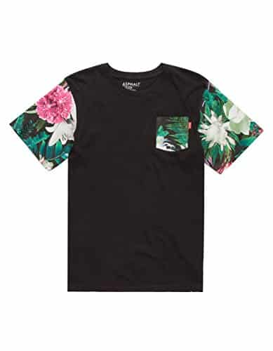 AYC Photo Floral Boys Pocket Tee, Black, X-Large