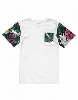 AYC Tie Dye Floral Boys Pocket Tee, White, X-Large