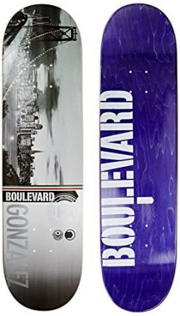 Blvd Skateboards Cityscape Rob G Deck, 8-Inch
