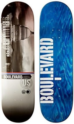 Blvd Skateboards Cityscape Team Deck, 8.5-Inch
