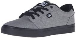 DC Men's Anvil TX Skateboarding Shoe, Grey/Black, 10 D US