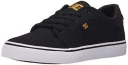 DC Men's Anvil TX Skate Shoe, Black/Camel, 11 M US