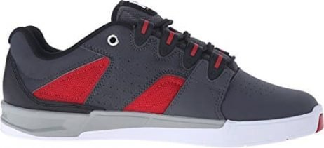 DC Men's Maddo Skate Shoe, Grey/Red/White, 11.5 M US
