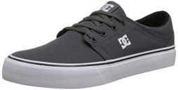 DC Men's Trase TX Skate Shoe, Grey/Grey/White, 13 M US