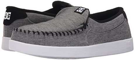 DC Men's Villain TX Slip-On Shoe, Grey Ash, 12 M US