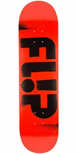 Flip Team Odyssey Stencil Skateboard Deck – Red – 8.13