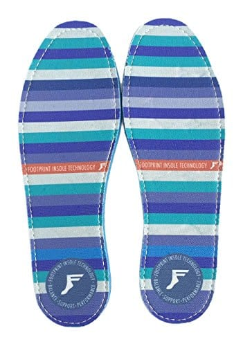 Footprint Insole Technology Kingfoam Flat Insoles Stripes Graphic
