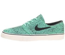 Nike Men's Zoom Stefan Janoski Prem Crystal Mint/Blk/Gm Lght Brwn Skate Shoe 10 Men US