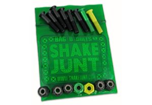 Shake Junt Allen Bag-O-Bolts Green / Yellow Skateboard Hardware Set - 1""