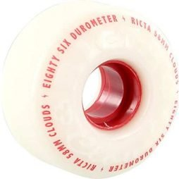 Ricta Clouds White / Red Skateboard Wheels - 58mm 86a (Set of 4)