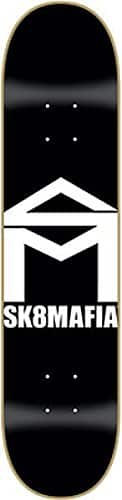 Sk8Mafia House Logo Skateboard Deck 7.5 – Black/White