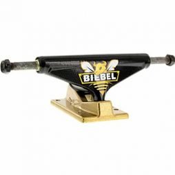"Venture Trucks Brandon Biebel Beebull 5.0"" Hi Black / Gold Skateboard Trucks - 7.75"" Axle (Set of 2)"