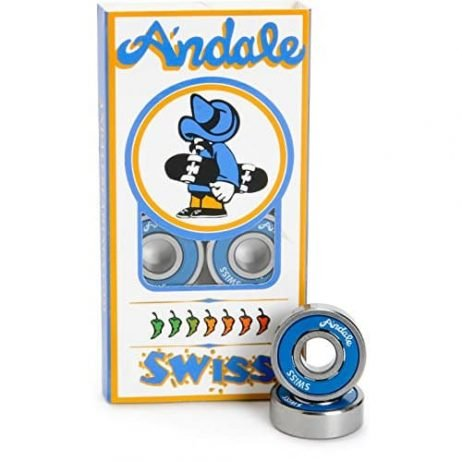 Andale Bearings Swiss Blue Skateboard Bearings
